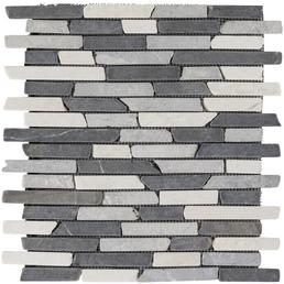 Mosaikmatte, BxL: 30,5 x 30,5 cm, Wandbelag/Bodenbelag