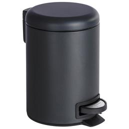 WENKO Mülleimer »Leman«, Höhe: 25  cm, schwarz
