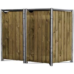 HIDE Mülltonnenbox, aus Holz, 121x115x64cm (BxHxT), 140 Liter