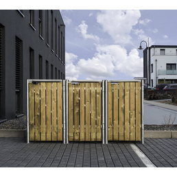HIDE Mülltonnenbox, aus Holz, 181x115x64cm (BxHxT), 140 Liter
