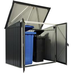 TEST RITE tepro GmbH Mülltonnenbox, aus Stahlblech, 154,2x130,5x96cm (BxHxT), 480 Liter