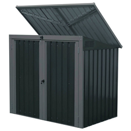 Westmann Mülltonnenbox, aus Stahlblech, 158x134x101cm (BxHxT), 480 Liter