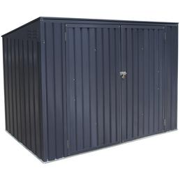 Westmann Mülltonnenbox, aus verzinktem Stahl, 235x128x97cm (BxHxT), 720 Liter