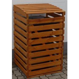 Mülltonnenbox, BxHxT: 67,5 x 111 x 63 cm, braun
