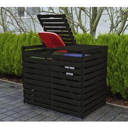 PROMADINO Mülltonnenbox, BxHxT: 92 x 122 x 148 cm, anthrazit