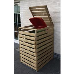 PROMADINO Mülltonnenbox »Vario«, aus Kiefernholz, 77x122x92cm (BxHxT), 240 Liter