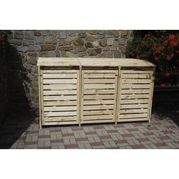PROMADINO Mülltonnenbox »Vario III«, aus Kiefernholz, 219x122x92cm (BxHxT), 720 Liter