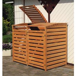 PROMADINO Mülltonnenbox »Vario III«, aus Kiefernholz, 92x122x148cm (BxHxT), 480 Liter