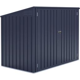 Westmann Mülltonnenbox, verzinkter Stahl, dunkelgrau, BxHxT: 172 x 128 x 97 cm
