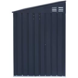 Westmann Mülltonnenbox, verzinkter Stahl, dunkelgrau, BxHxT: 235 x 128 x 97 cm