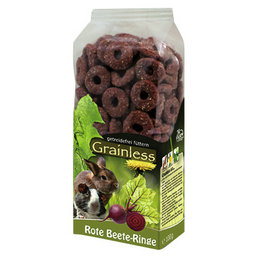JR FARM Nager-Snacks »Grainless Rote Beete-Ringe«, Rote Beete, 8x100 g
