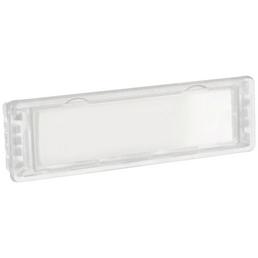 ME-FA Namensschild, Kunststoff, transparent