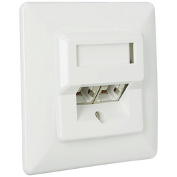 SCHWAIGER Netzwerk-Anschlussdose UP, Weiß, Kunststoff, Netzwerkanschlüsse