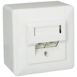 SCHWAIGER Netzwerk-Anschlussdose, Weiß, Kunststoff, Netzwerkanschlüsse
