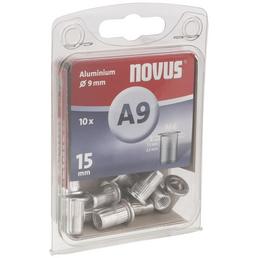 NOVUS Nietmutter, A9, Aluminium, Ø 9 x 15 mm, 10 St.