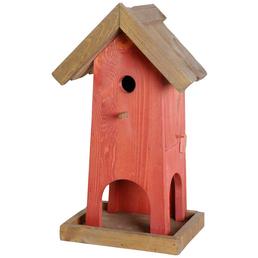 DOBAR Nistkasten »Red House«, für Wildvögel, Kiefernholz, braun/rot