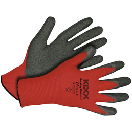 KIXX Nylonhandschuhe »Nylon/Latex«, rot/grau