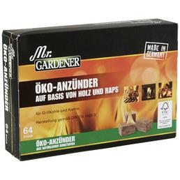 MR. GARDENER Öko-Anzünder, Öko-Anzünder 64 St.