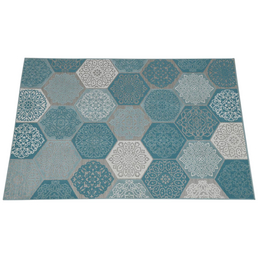 GARDEN IMPRESSIONS Outdoor-Teppich »Hexagon«, BxL: 230 x 160 cm, türkis/weiß/grau