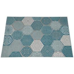 GARDEN IMPRESSIONS Outdoor-Teppich »Hexagon«, BxL: 290 x 200 cm, türkis/weiß/grau