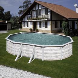 GRE Ovalpool »NORDIC«, weiß, BxHxL: 375 x 120 x 610 cm