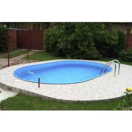 Ovalpool , oval, BxLxH: 300 x 490 x 120 cm