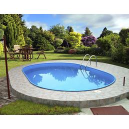 SUMMER FUN Ovalpool-Set Ovalformbeckenset , oval, BxLxH: 360 x 623 x 120 cm