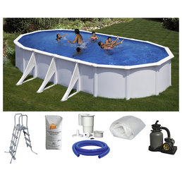 SUMMER FUN Ovalpool-Set Ovalformbeckenset , oval, BxLxH: 375 x 730 x 120 cm