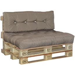 DOPPLER Paletten-Sitzkissen, greige, Uni, BxL: 80 x 120 cm