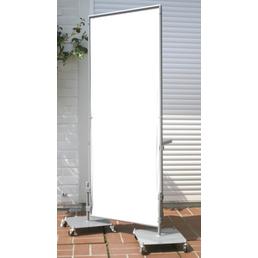 PEDDY SHIELD Paravent Fußplatte rollbar, Metall, BxL: 35 x 35 cm
