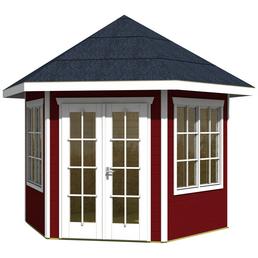 SKANHOLZ Pavillon »Almelo«, Spitzdach, sechseckig, BxT: 420 x 373 cm, inkl. Dacheindeckung