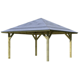 KARIBU Pavillon »Holm 1«, Walmdach, viereckig, BxHxT: 431 x 315 x 431 cm