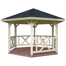 PALMAKO AS Pavillon »Kreta«, Spitzdach, sechseckig, BxT: 423 x 423 cm, ohne Dacheindeckung