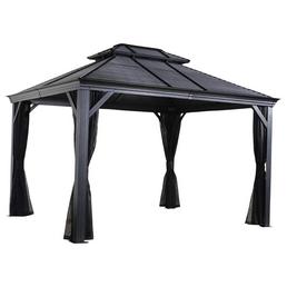SOJAG Pavillon »Mykonos«, walmdach|stufendach, rechteckig, BxT: 425 x 299 cm, inkl. Dacheindeckung