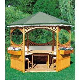 PROMADINO Pavillon-Set »Palma«, sechseckig, BxT: 326 x 308 cm