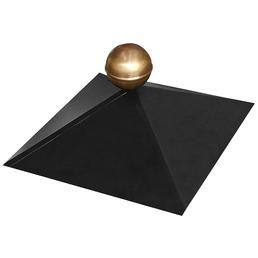 KARIBU Pavillonhaube, BxT: 35,5 x 35,5cm, schwarz, messing metall