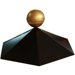 KARIBU Pavillonhaube, Metall, schwarz