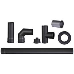 FIREFIX® Pelletrohr-Set, Ø: 8 cm, Stärke: 1,2 mm, Stahl