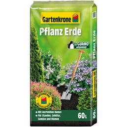 GARTENKRONE Pflanzenerde, 60 l, geeignet für: Stauden, Gehölze, Gemüse, Sommerblumen und andere Gartenpflanzen
