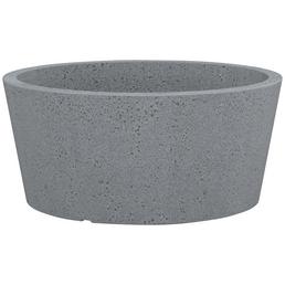 PP-PLASTIC Pflanzgefäß mit 26,48 l Fassungsvermögen, konisch, rund, grau