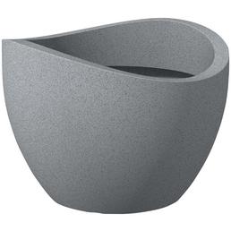 PP-PLASTIC Pflanzgefäß mit 92,75 l Fassungsvermögen, rund, grau