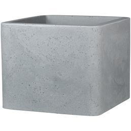 PP-PLASTIC Pflanzgefäß, rechteckig mit abgerundeten Ecken, grau