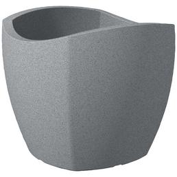 SCHEURICH Pflanzgefäß »WAVE GLOBE CUBO«, Kunststoff, grau, eckig mit abgerundeten Kanten