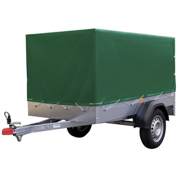 STEMA PKW-Anhänger mit Plane »AN750-13«,  BxLxH: 108 cm x 201 cm x 26,5 cm, max. Nutzlast 606 kg