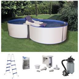 MYPOOL Pool-Set,  achtform, BxLxH: 320 x 525 x 120 cm