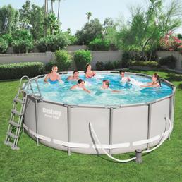 BESTWAY Pool-Set »Power Steel«, rund, Ø x H: 427  x 122 cm