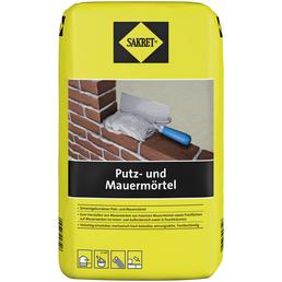 SAKRET Putz- und Mauermörtel, Grau, 25 kg