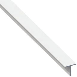 alfer® aluminium Quadrat-T-Profil combitech®PVCweiß1000x15,5x15,5 x 1,5mm