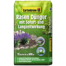 Rasendünger, 15 kg, für 600 m², schützt vor Nährstoffmangel