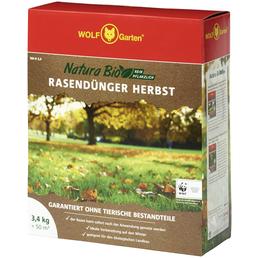 WOLF GARTEN Rasendünger »Bio NR-H «, 3,4 kg , für 50 m², schützt vor Frost & Verbrennung der Rasengräser